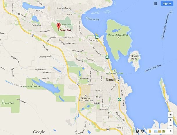 Vancouver map / satellite : Google™ — share any place ...